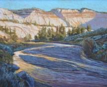 2011 Arlene Braithwaite, First Light River Bend