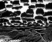2016 Maureen Sheldon, Lost on Sheffield Road, Woodcut Print 36x24