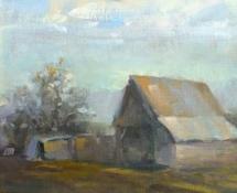 2016 StephenVanHandel, Robert's Barn, Oil 11x14
