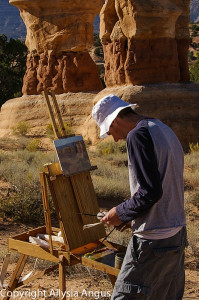 Plein Air painting Utah canyons